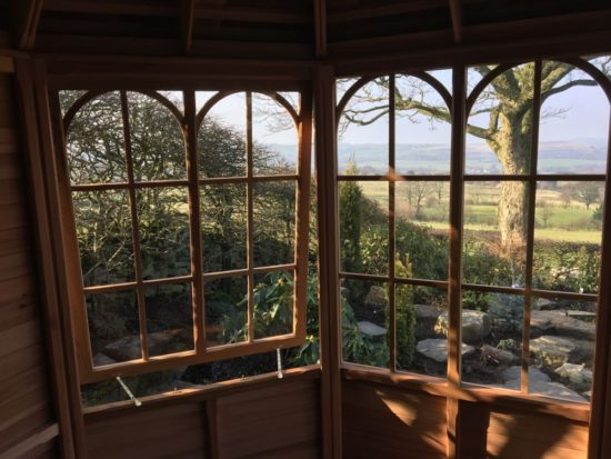 Eight Sided Summerhouse With a View