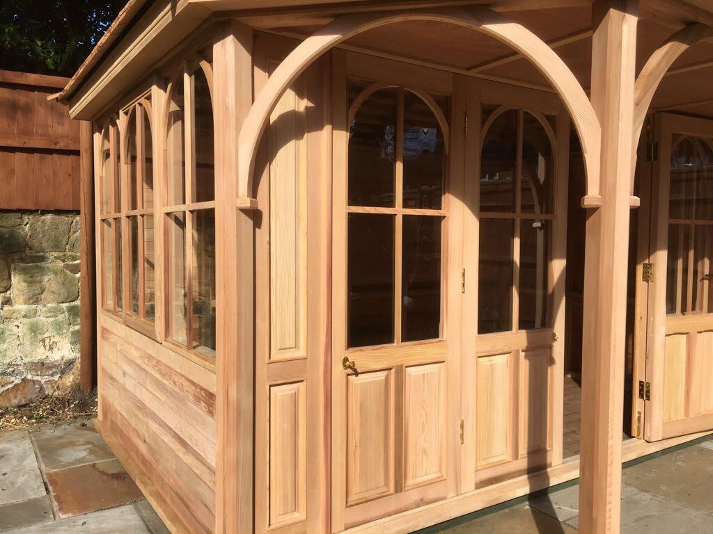 Cedar Summerhouse With Bi-Folding Doors u2013 The Wirral & Cedar Summerhouse With Bi-Folding Doors - The Wirral - Stan ...