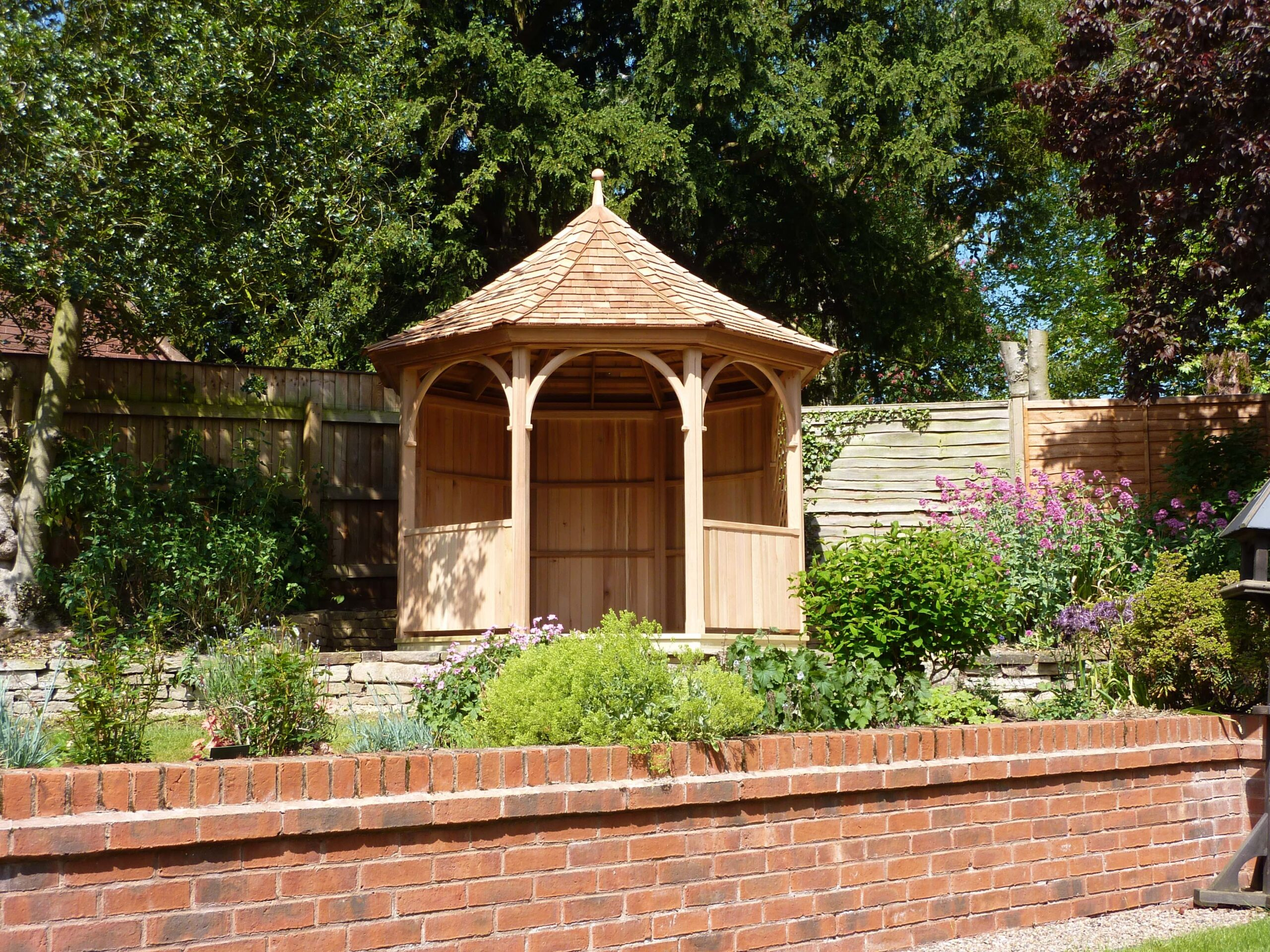 3 Metre Eight Sided Gazebo With Trellis Amp Open Arches