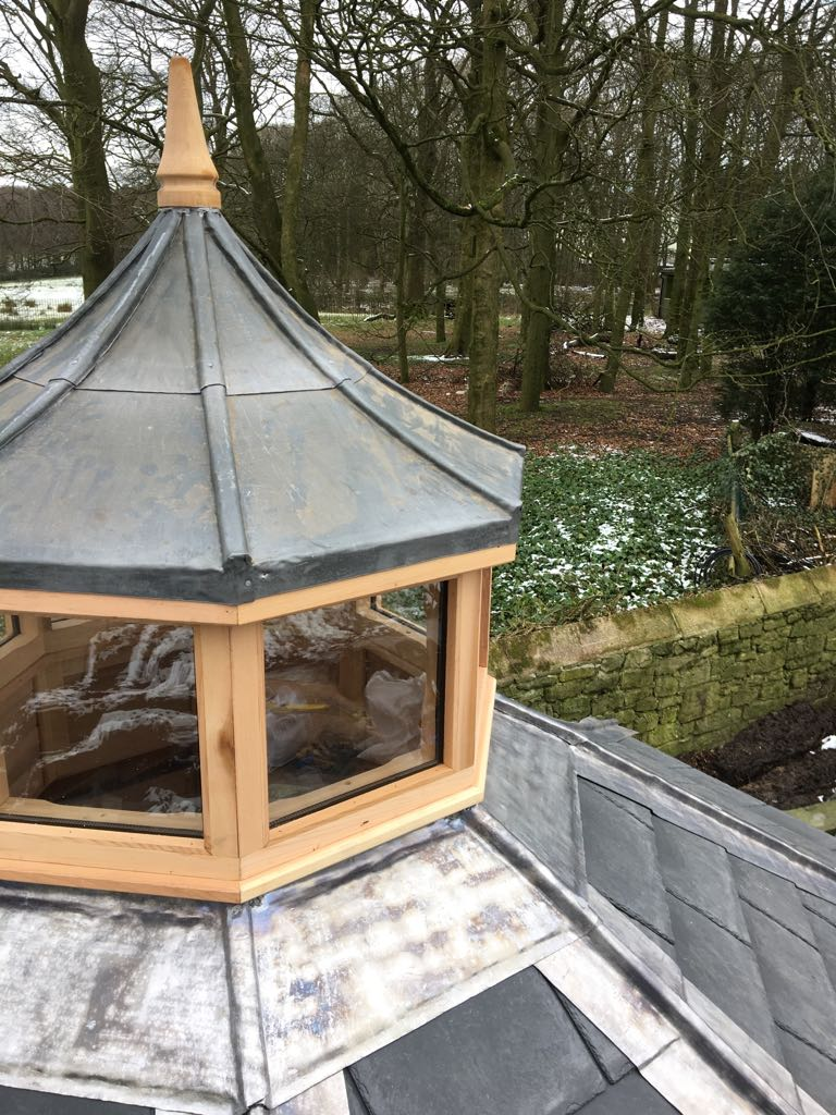 3 6 Metre 8 Sided Summerhouse With Copular Roof Lantern